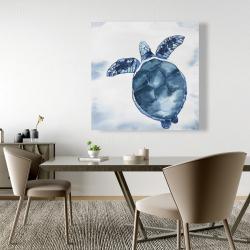 Canvas 48 x 48 - Watercolor blue turtle