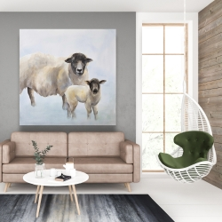 Canvas 48 x 48 - Sheep and its baby