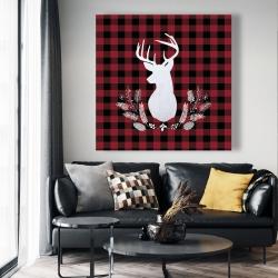 Canvas 48 x 48 - Deer plaid