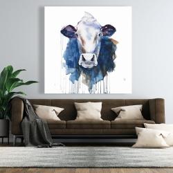 Canvas 48 x 48 - Watercolor cow