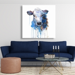 Canvas 48 x 48 - Watercolor jersey cow