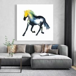 Canvas 48 x 48 - Galloping colorful horse