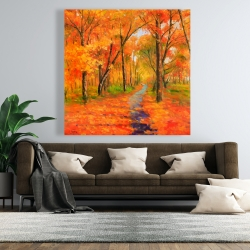 Canvas 48 x 48 - Autumn trail in the forest