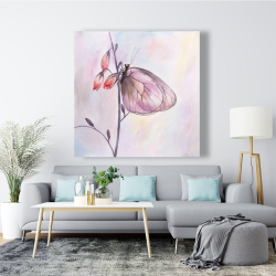 Canvas 48 x 48 - Delicate butterfly