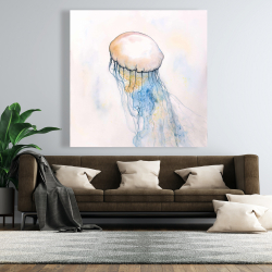 Canvas 48 x 48 - Watercolor jellyfish