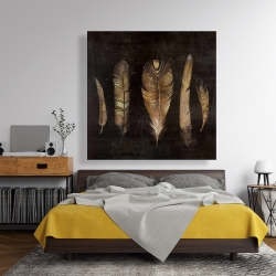 Canvas 48 x 48 - Brown feather set