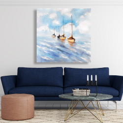Canvas 48 x 48 - Sailboats in the sea
