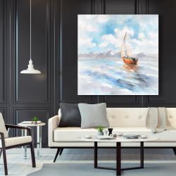 Canvas 48 x 48 - Sailboat landscape