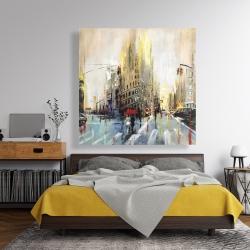 Canvas 48 x 48 - Abstract rainy street