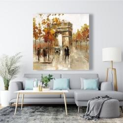 Canvas 48 x 48 - Arc de triomphe in autumn