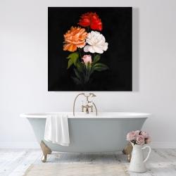Canvas 48 x 48 - Three beautiful rose flowers