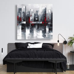 Canvas 48 x 48 - Abstract cityscape