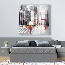 Canvas 48 x 48 - Abstract cloudy city street
