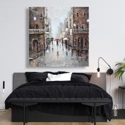 Canvas 48 x 48 - City rain
