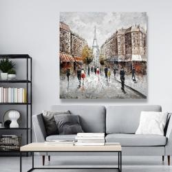 Canvas 48 x 48 - Paris busy street