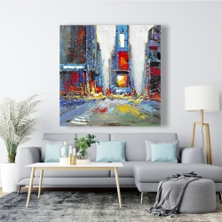Canvas 48 x 48 - Abstract and colorful buildings
