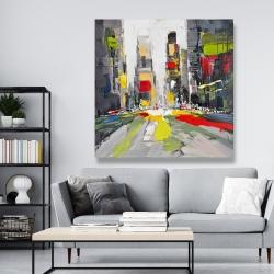 Canvas 48 x 48 - Abstract texturized cityscape