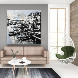 Canvas 48 x 48 - Abstract venise port