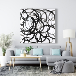 Canvas 48 x 48 - Abstract curly lines
