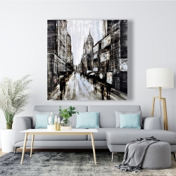 Canvas 48 x 48 - Busy gray street