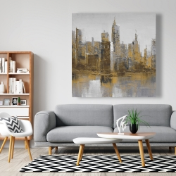 Canvas 48 x 48 - Brown and gloomy cityscape