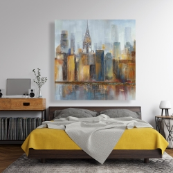 Canvas 48 x 48 - Cityscape with chrysler building