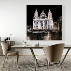 Canvas 48 x 48 - White monument on a dark background