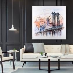 Canvas 48 x 48 - Bridge sketch