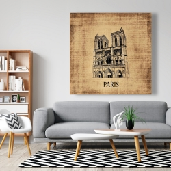 Canvas 48 x 48 - Notre-dame de paris illustration