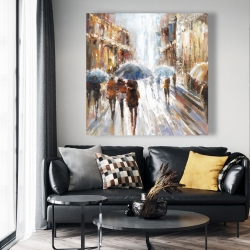 Canvas 48 x 48 - Abstract passersby in the city