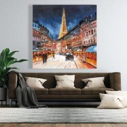 Canvas 48 x 48 - Illuminated paris