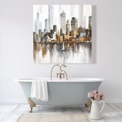 Canvas 48 x 48 - Urban landscape and its sailboats