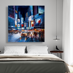 Canvas 48 x 48 - Yellow cabs in times square
