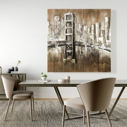 Canvas 48 x 48 - Aged finish golden gate