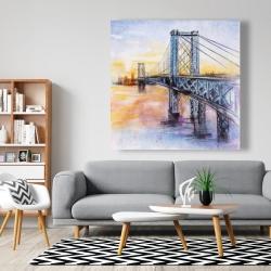 Canvas 48 x 48 - Abstract brooklyn bridge