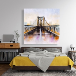 Canvas 48 x 48 - Colorful brooklyn bridge