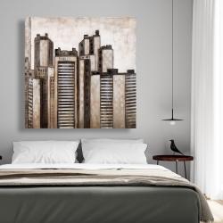 Canvas 48 x 48 - Striped skyscrapers