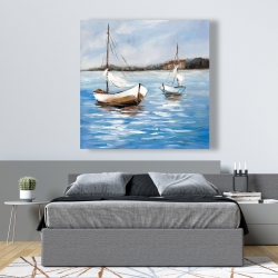 Canvas 48 x 48 - Two boats on the water