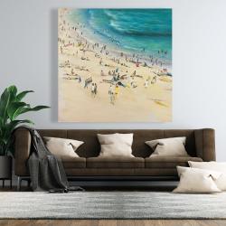 Canvas 48 x 48 - Summer crowd at the beach