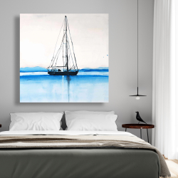 Canvas 48 x 48 - Sailboat on a calm water