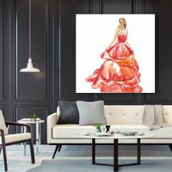 Canvas 48 x 48 - Beautiful red prom dress
