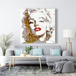 Canvas 48 x 48 - Marilyn monroe with typography