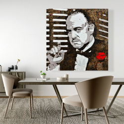 Canvas 48 x 48 - Black and white the godfather