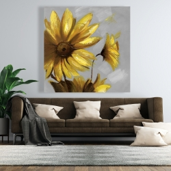Canvas 48 x 48 - Mountain arnica flowers