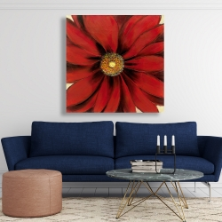 Canvas 48 x 48 - Red daisy