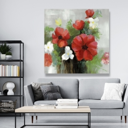 Canvas 48 x 48 - Abstract wild flowers bundle