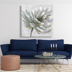 Canvas 48 x 48 - White chrysanthemum