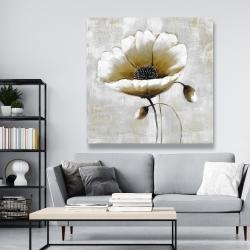 Canvas 48 x 48 - Modern beige flower