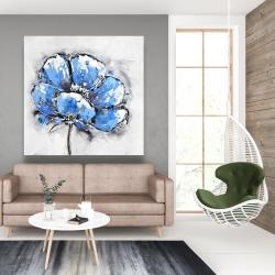 Canvas 48 x 48 - Abstract blue petals