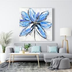 Canvas 48 x 48 - Blue flower